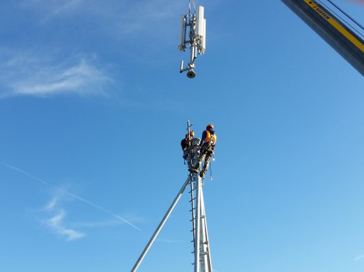 Installation and technological upgrade of BTS for Vodafone and Tim